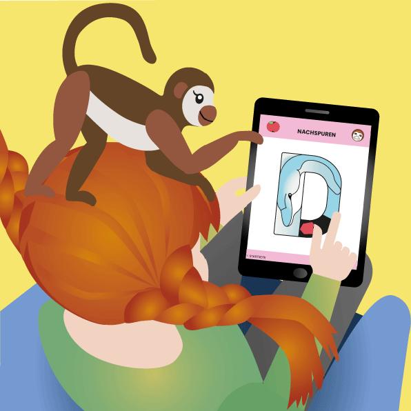 Tier-App Lern-App leicht lesen lernen animalingo Pippi